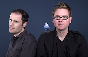 Evan Williams and Biz Stone of Twitter Robyn Twomey for TIME