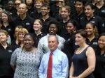 New York City Mayor Michael R. Bloomberg and Corporation for National and Community Service Acting CEO Nicola Goren